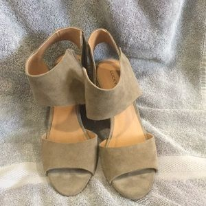 Lucky Brand Grey Wedges, size 8!